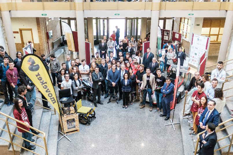 Visit by Hugh Herr to the Polytechnic School of Engineering in Gijón