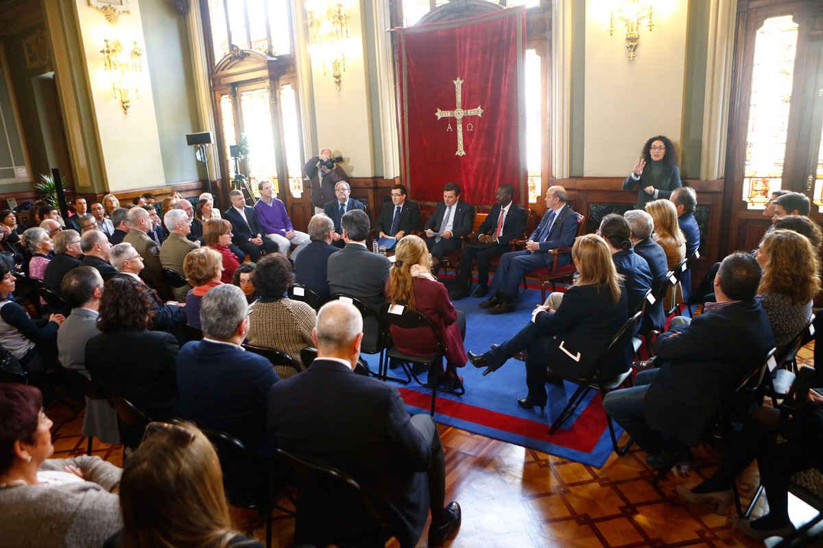 Visita de representantes de la Orden Hospitalaria de San Juan de Dios