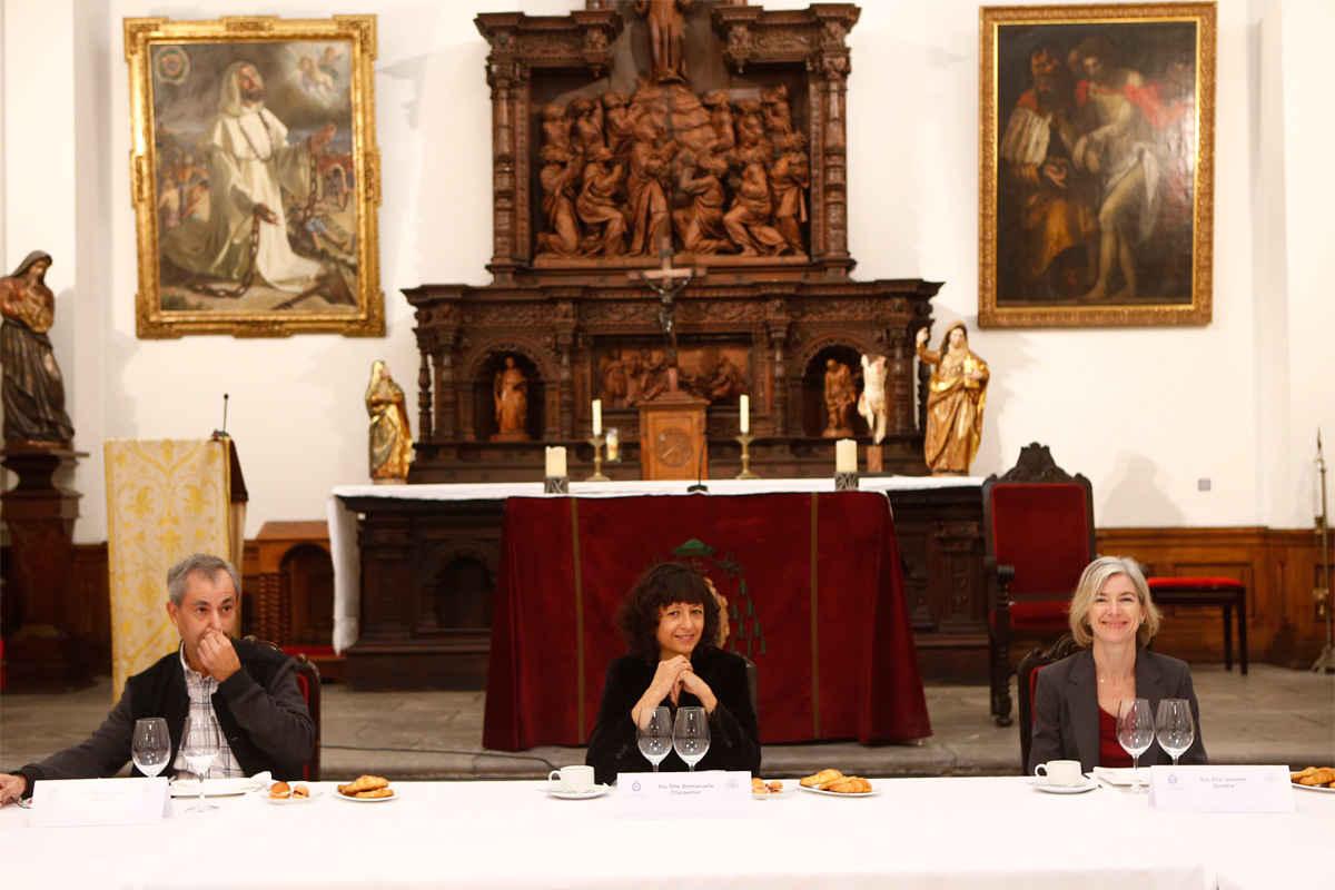 Working breakfast with Emmanuelle Charpentier and Jennifer Doudna