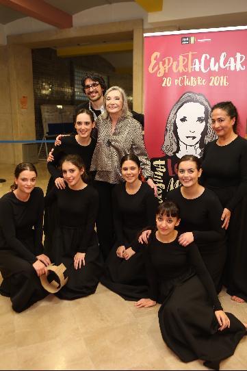 Visita de Núria Espert a la Escuela Superior de Arte Dramático del Principado de Asturias (ESAD)