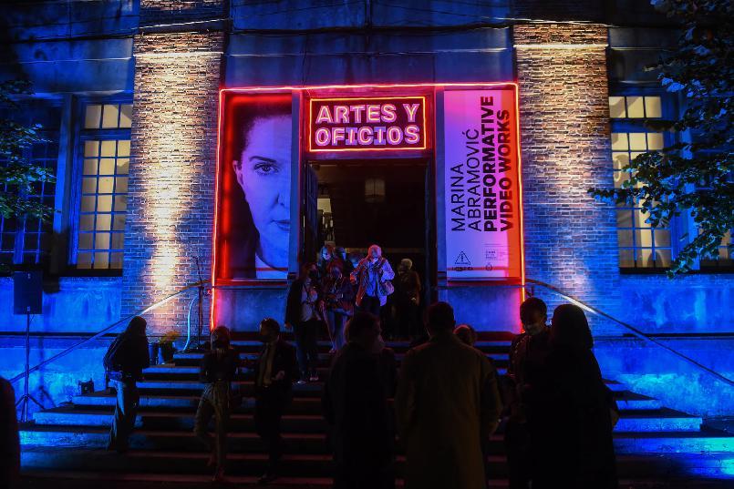 "Inauguration of the ""LAFPABRICA. Awards Factory"":  ""Marina Abramović - Performative Video Works""."
