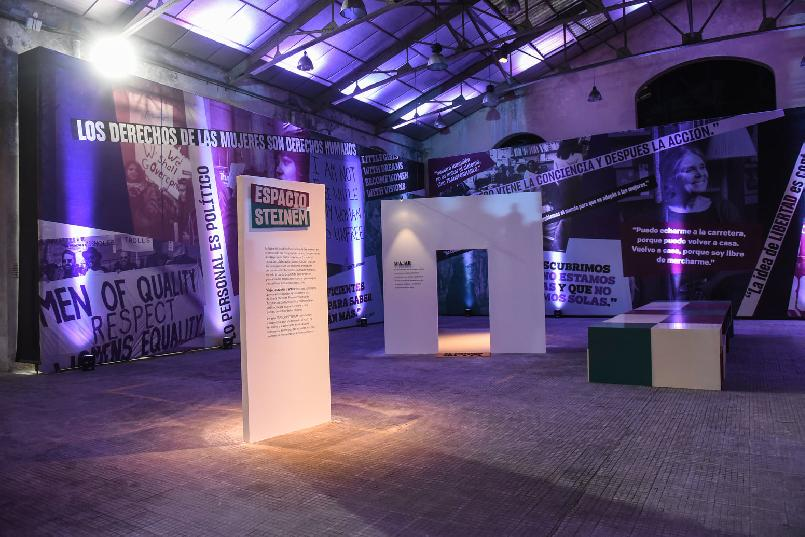 """Inauguration of """"LAFPABRICA. Awards Factory"""":  """"Steinem Space. Feminist Space""""."""