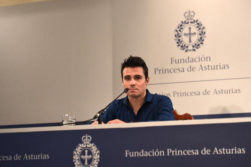 Press conference with Javier Gómez Noya