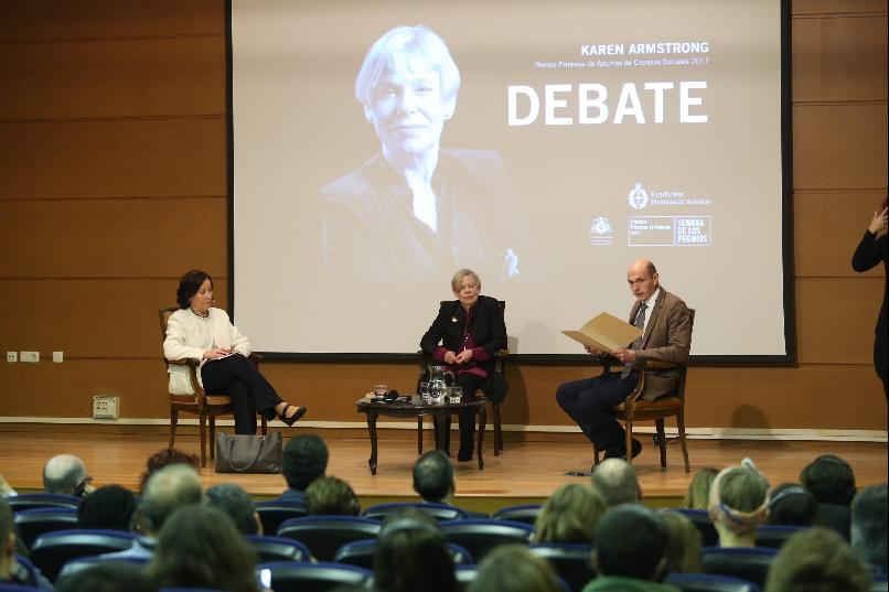 """A Debate with Karen Armstrong""."