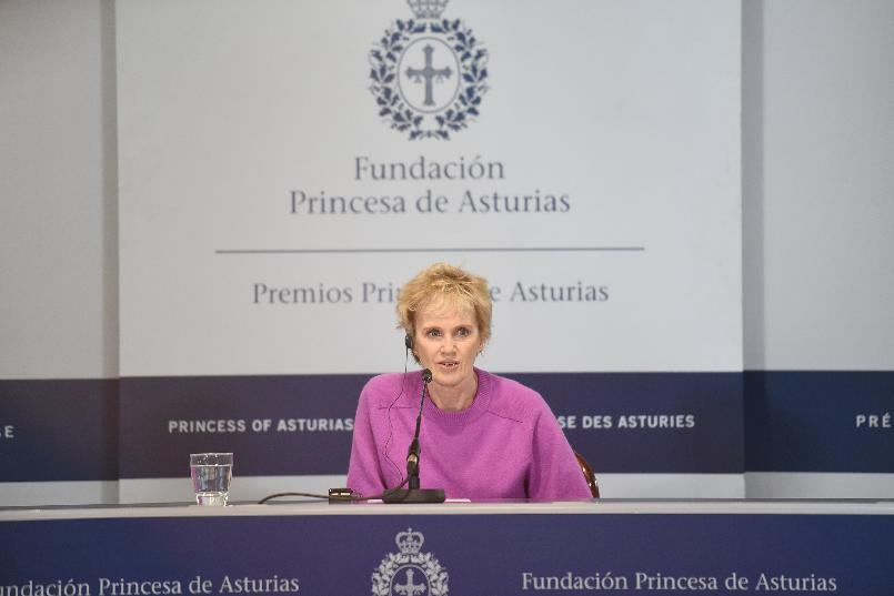 Press conference with Siri Hustvedt