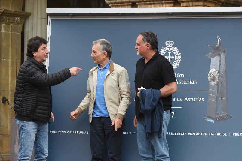 Llegada de  Horacio Turano, Jorge Maronna y Martín O'Connor
