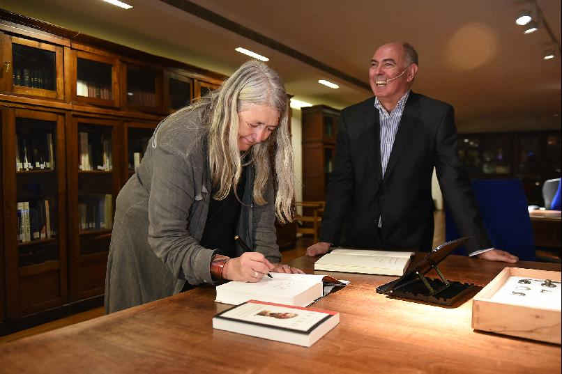 """A Night at the Archaeological Museum with Mary Beard."""