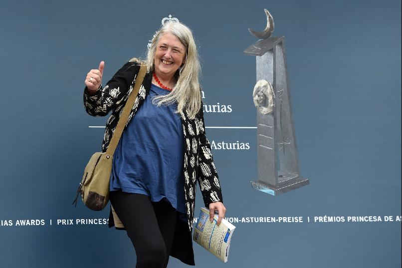 Llegada de Mary Beard
