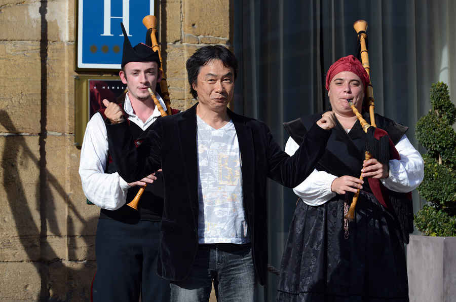 Llegada de Shigeru Miyamoto
