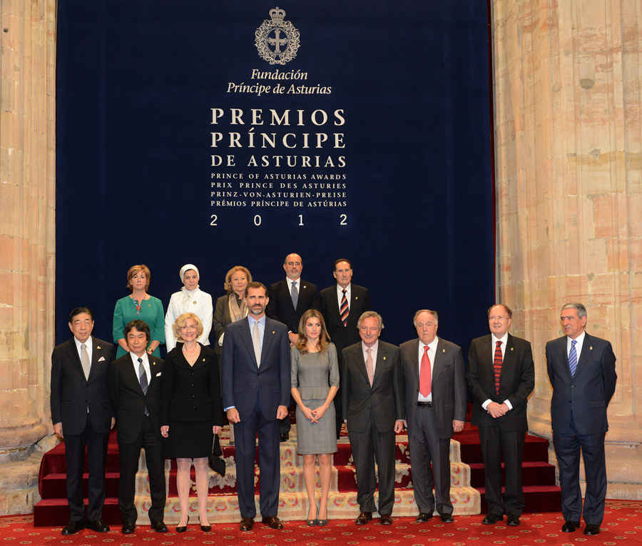 Audience of TRH the Prince and the Princess of Asturias with the 2012 Laureates