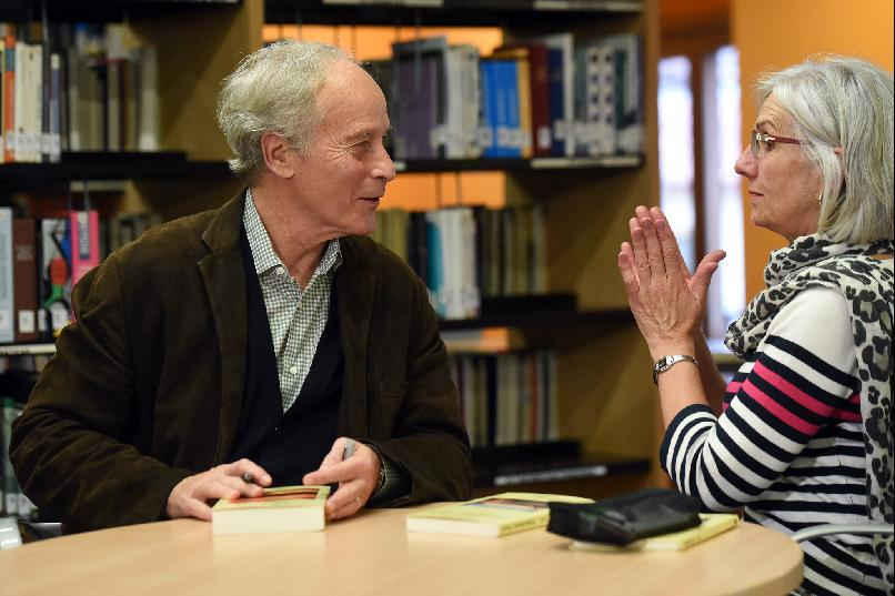 Visit by Richard Ford to the Ramón Pérez de Ayala Library of Asturias