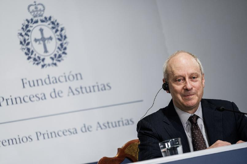 Press conference with Michael J. Sandel