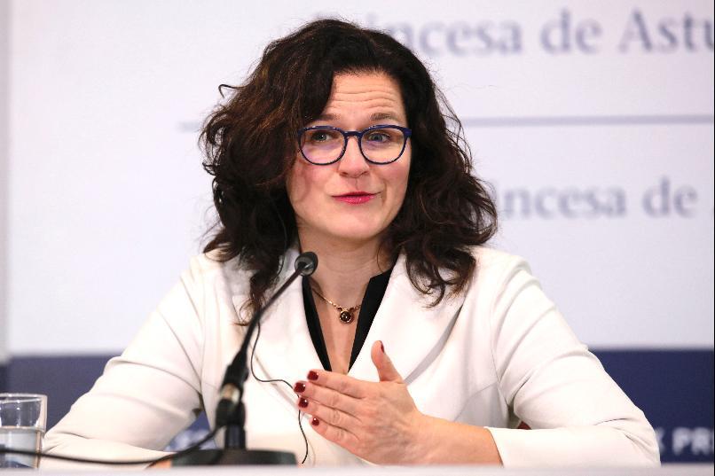 Rueda de prensa de Aleksandra Dulkiewicz, alcaldesa de la ciudad de Gdansk