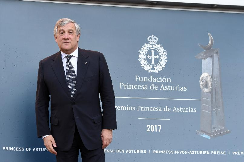 Arrival of Antonio Tajani