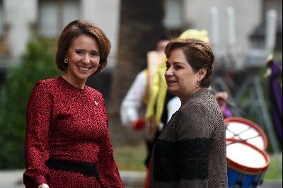 Arrival of Patricia Espinosa