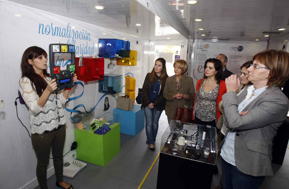Spanish Organisation for the Blind (ONCE), exhibition and activities in Avilés
