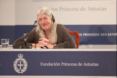 Press conference with Mary Beard