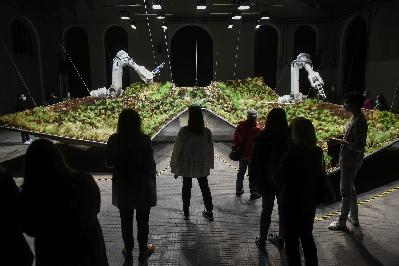 """Inauguración de """"LAFPABRICA. Fábrica en Premios"""":  """"Sylva. Instalación artística""""."""