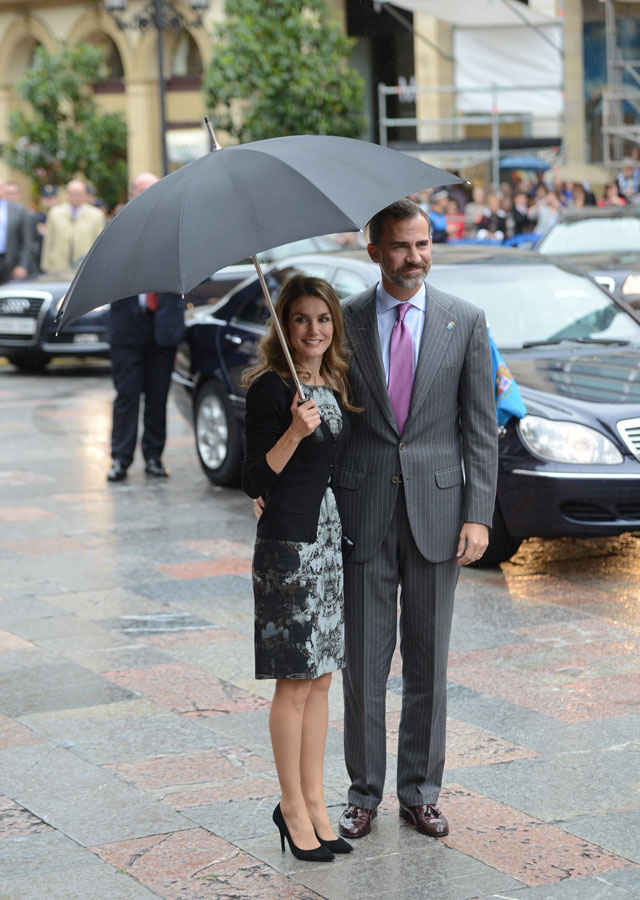 Arrival of TRH the Prince and the Princess of Asturias